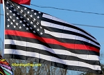 FIRE DEPT: Thin RED LINE USA Flag